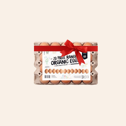 Gift 20 Organic Free-Range Eggs 3 Week Subscription
