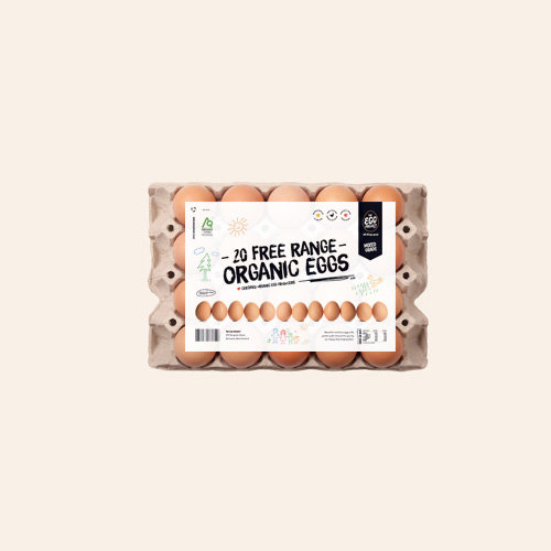 Certified Organic Free-range Eggs - 20 Cell Mixed Grade